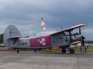 Antonov Doppeldecker am Tag der offenen Tür