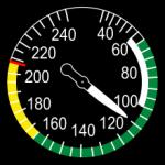 Fahrtmesser im Flugzeug