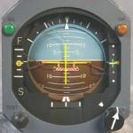 Künstlicher Horizont im Flugzeug
