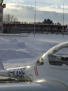 Flugplatz Siegerland im Winter