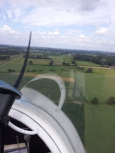 Anflug Flugplatz Kamen
