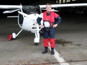 Ultraleichtflugzeug vor Atlantikflug