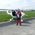 Flugvorbereitung Überquerung Nordsee