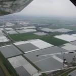 Gewächshäuser in Holland aus der Luft
