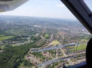 Sheffield England Luftbild
