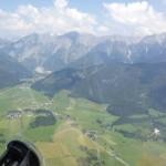 Alpen aus dem Flugzeug