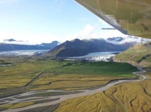Skaftafell Flugplatz Anflug