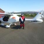 Egilstadir Flugplatz Ankunft