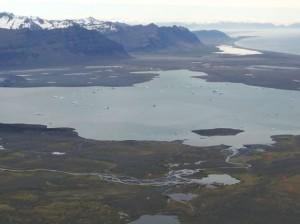 Eislagune des Gletschers Vatnajökull