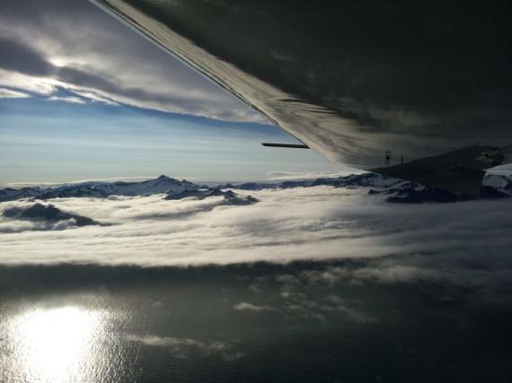 Fliegen in Island mit Ultraleichtflugzeug