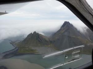 Flug nach Skaftafell Island