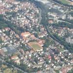 Bayreuth Flug über die Stadt