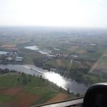Flug entlang der Donau