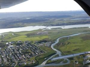 Flugplatz Egilstadir Gegenanflug