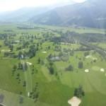 Flug über Golfplatz Zell am See
