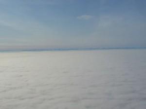 Flug Richtung Islands Ostküste