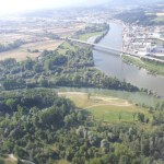 Isar Mündung in der Donau