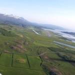 Queranflug Egilstadir Flugplatz
