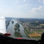 Vilshofen Flugplatz Queranflug