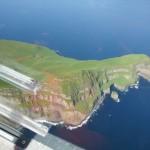 Fug über Färöer Insel