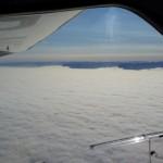 geschlossene Wolkendecke vor Ostisland